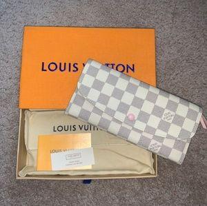Authentic Louis Vuitton Checkered Emilie Wallet